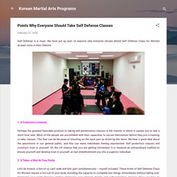 Points Why Everyone Should Take Self Defense Classes