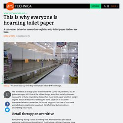 This is why everyone is hoarding toilet paper
