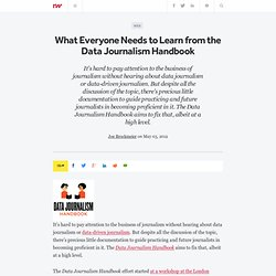 What Everyone Needs to Learn from the Data Journalism Handbook
