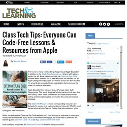 Class Tech Tips: Everyone Can Code: Free Lessons & Resources from Apple