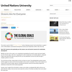 Oceans Are for Everyone - United Nations University