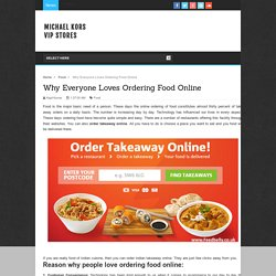 Top Reason Ordering Food Online by People