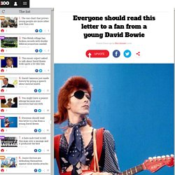 Everyone should read this letter to a fan from a young David Bowie