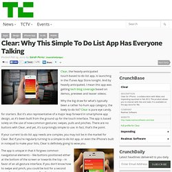 Clear: Why This Simple To Do List App Has Everyone Talking