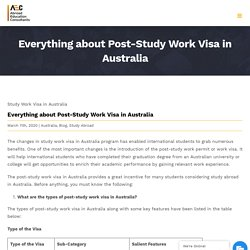 Everything about Post-Study Work Visa in Australia - AEC