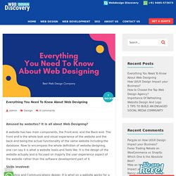 Everything You Need To Know About Web Designing