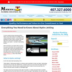 Everything You Need to Know About Hydro Jetting