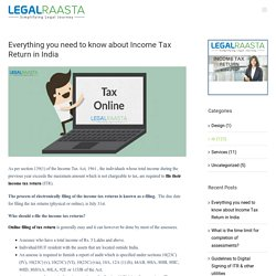 Everything you need to know about Income Tax Return in India