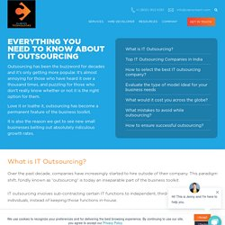 Everything You Need To Know About It Outsourcing