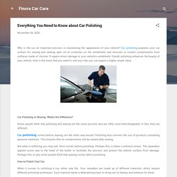 Everything You Need to Know about Car Polishing
