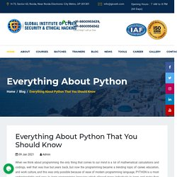 Everything About Python That You Should Know