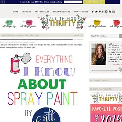 Everything I know about Spray Paint!