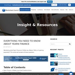 Everything You Need to Know About Yearn Finance