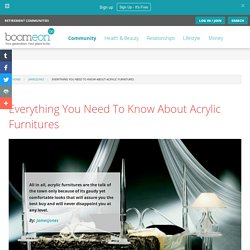 Everything You Need To Know About Acrylic Furnitures