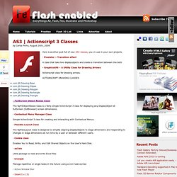 Actionscript 3 Classes