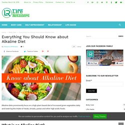 Everything You Should Know about Alkaline Diet - Life Retailers