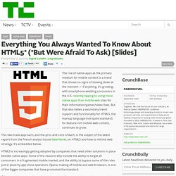 Everything You Always Wanted To Know About HTML5* (*But Were Afraid To Ask) [Slides]