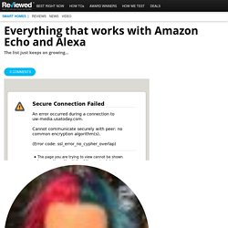 Everything that works with Amazon Echo and Alexa - Reviewed.com Smart Home