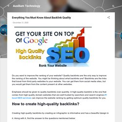 Everything You Must Know About Backlink Quality