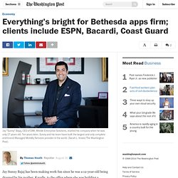 Everything's bright for Bethesda apps firm; clients include ESPN, Bacardi, Coast Guard