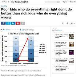 Poor kids who do everything right don't do better than rich kids who do every...