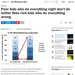 Poor kids who do everything right don't do better than rich kids who do everything wrong