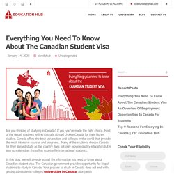 Everything You Need To Know About The Canadian Student Visa