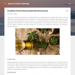 Everything To Know About Cannabis Merchant Accounts