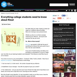 Everything college students need to know about Klout