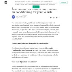 Everything you need to know about air conditioning for your vehicle