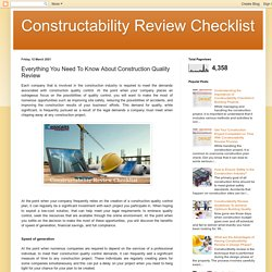 Everything You Need To Know About Construction Quality Review