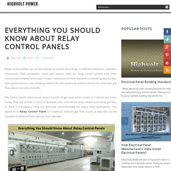 Everything You Should Know About Relay Control Panels