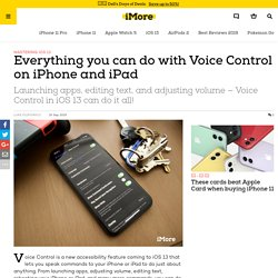 Everything you can do with Voice Control on iPhone and iPad