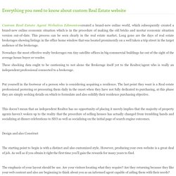Everything you need to know about custom Real Estate website
