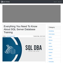 Everything You Need To Know About SQL Server Database Training