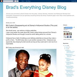 Brad's Everything Disney Blog: Bill Cosby's Disappearing act at Disney's Hollywood Studios (This post is for the adults)