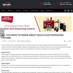 Everything You Need To Know About Bulk Fluid Dispensing Systems