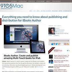 Everything you need to know about publishing and distribution for iBooks Author