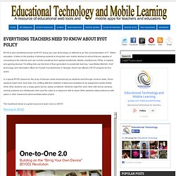 Everything Teachers Need to Know about BYOT Policy
