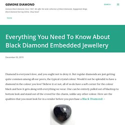 Everything You Need To Know About Black Diamond Embedded Jewellery