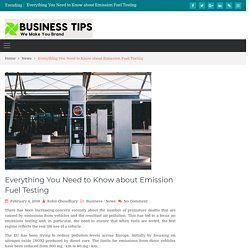 Everything You Need to Know about Emission Fuel Testing