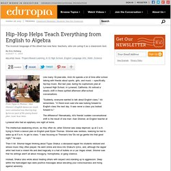 Hip-Hop Helps Teach Everything from English to Algebra