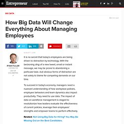 How Big Data Will Change Everything About Managing Employees