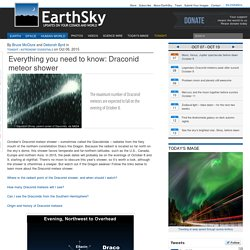 Everything you need to know: Draconid meteor shower