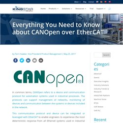 Everything You Need to Know about CANOpen over EtherCAT