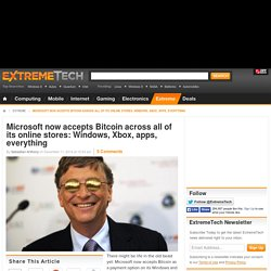 Microsoft now accepts Bitcoin across all of its online stores: Windows, Xbox, apps, everything