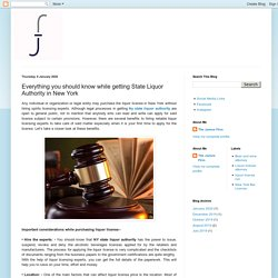 The James Firm: Everything you should know while getting State Liquor Authority in New York