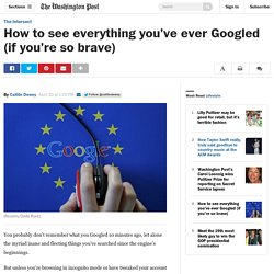 How to see everything you've ever Googled (if you're so brave)