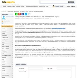 Everything You Need to Know About the Management Rights