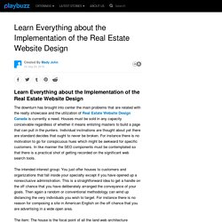 Learn Everything about the Implementation of the Real Estate Website Design